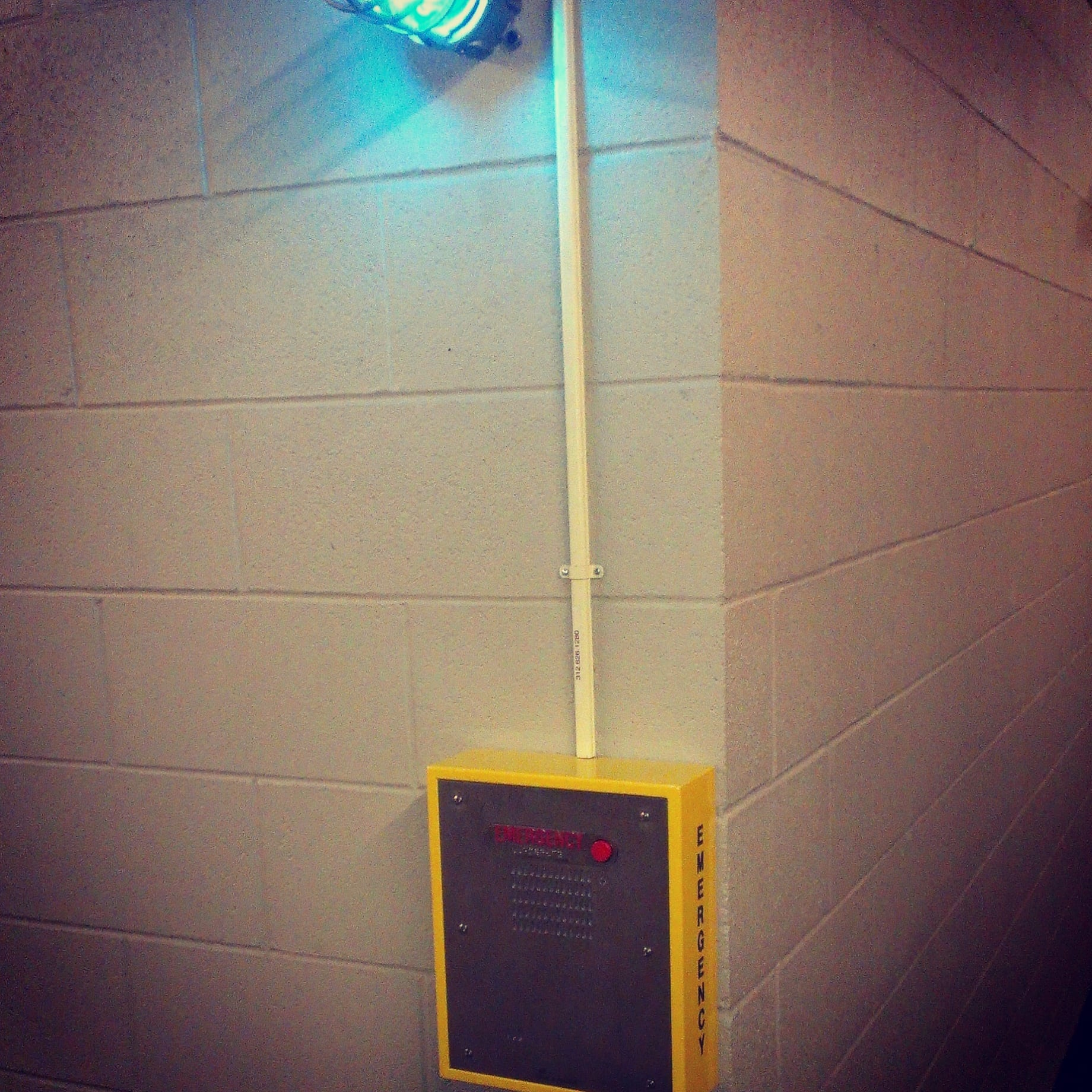 emergency call box in hallway